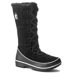 SOREL Tivoli II Tall Winter Snow Boots Black 9